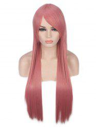 Long Oblique Bang Straight Party Lolita Synthetic Wig -