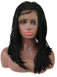 Center Parting Three Strands Braids Medium Synthetic Lace Front Wig -