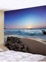 Tapisserie d'art de Seaside Sunrise Print - Multi Largeur 79 x Longueur 71 pouces