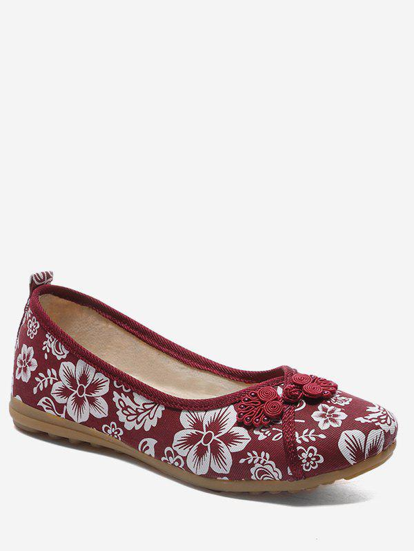 Outfits Retro Printed Low Top Flats