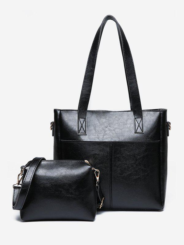 Sale 2 Pieces PU Leather Minimalist Shoulder Bag Set