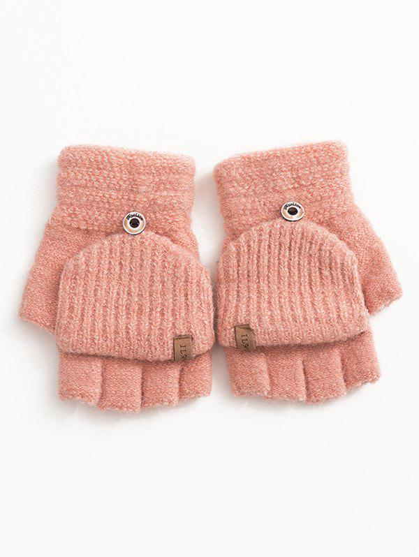 Shop Winter Fingerless Flanging Knitted Gloves