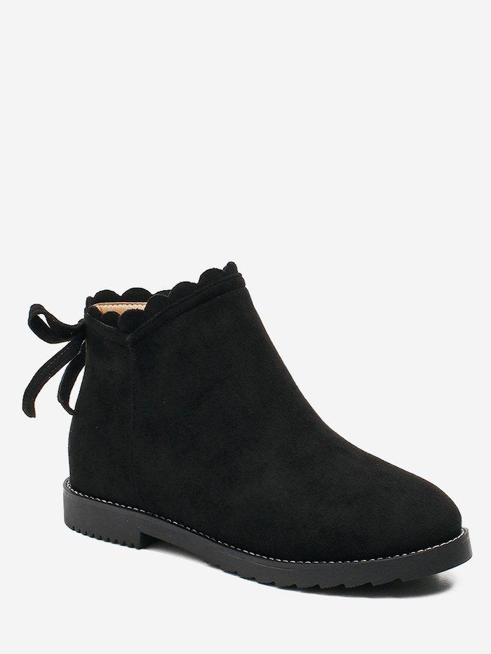Buy Bowknot Back Suede Short Boots