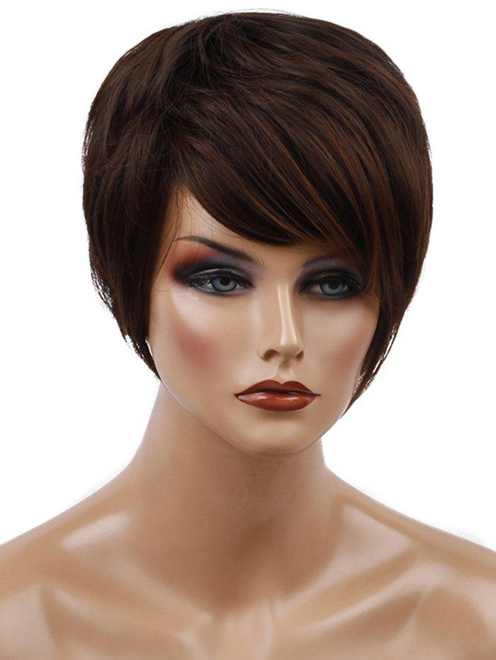 Fancy Short Side Bang Straight Synthetic Wig