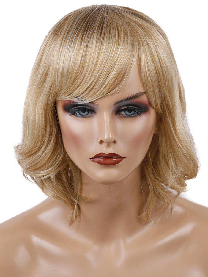 Store Short Oblique Bang Wavy Colormix Synthetic Wig