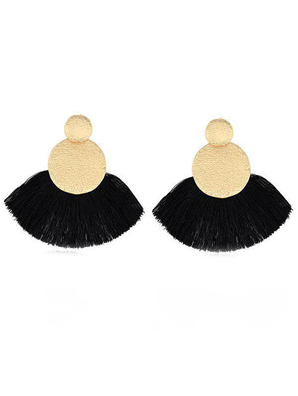 New Round Shape Tassel Drop Earrings