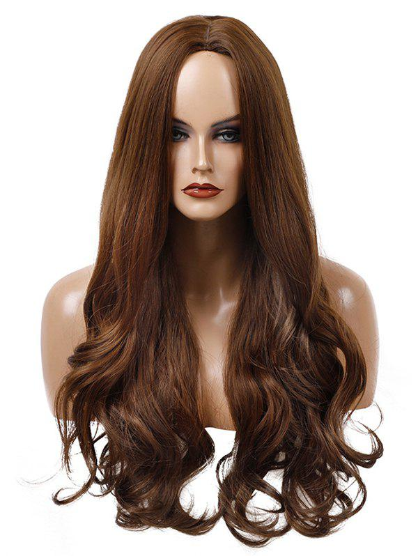 Unique Long Center Parting Wavy Capless Synthetic Wig
