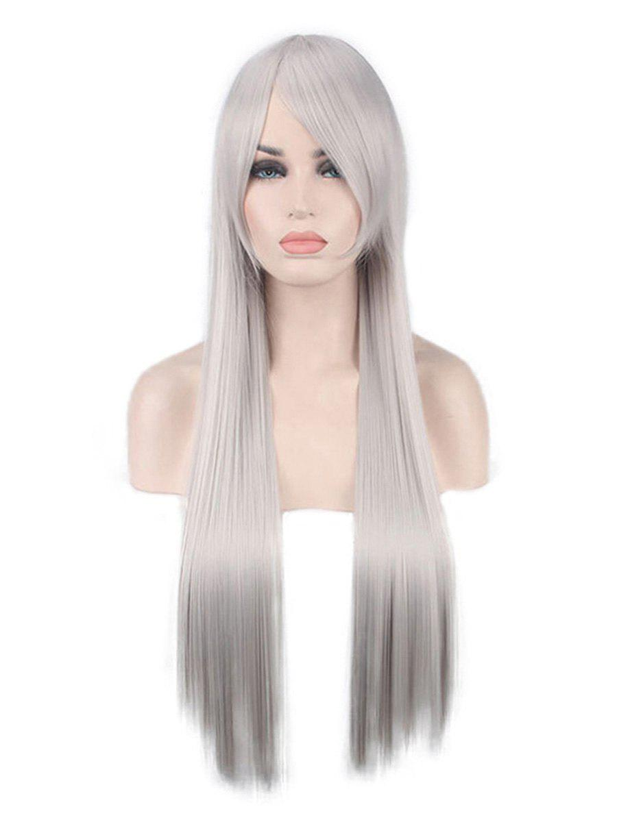Buy Long Inclined Bang Straight Synthetic Anime Cosplay Wig