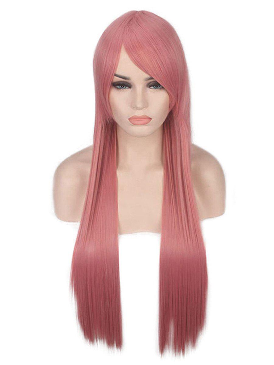 Trendy Long Oblique Bang Straight Party Lolita Synthetic Wig