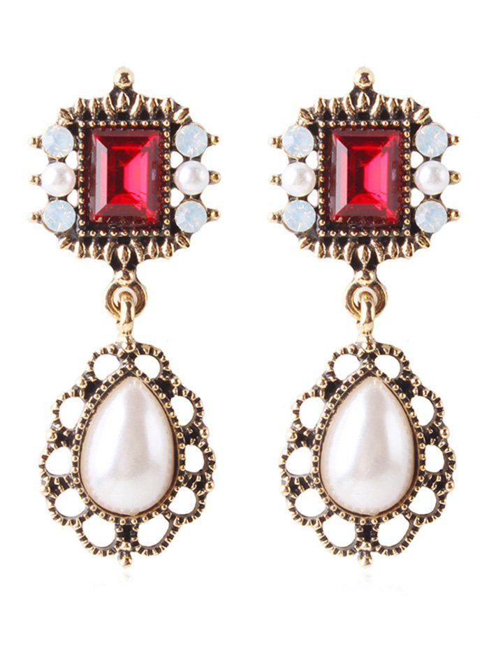 Sale Rhinestone Faux Gem Drop Earrings