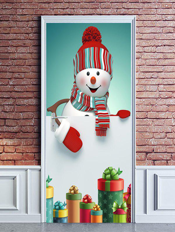 Best Christmas Snowman Gifts Print Door Cover Stickers