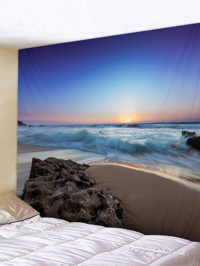 New Wall Hanging Art Seaside Sunrise Print Tapestry