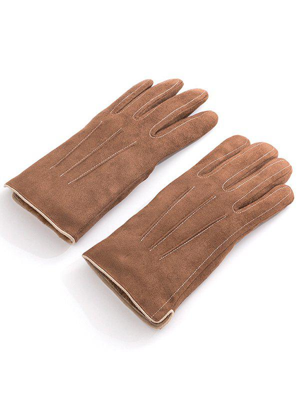 Hot Vintage Full Finger Solid Color Warm Gloves