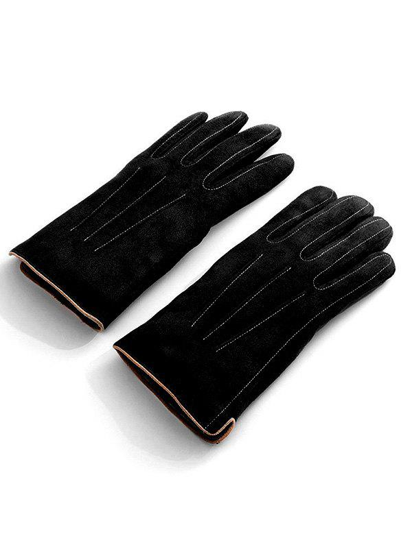 Discount Vintage Full Finger Solid Color Warm Gloves