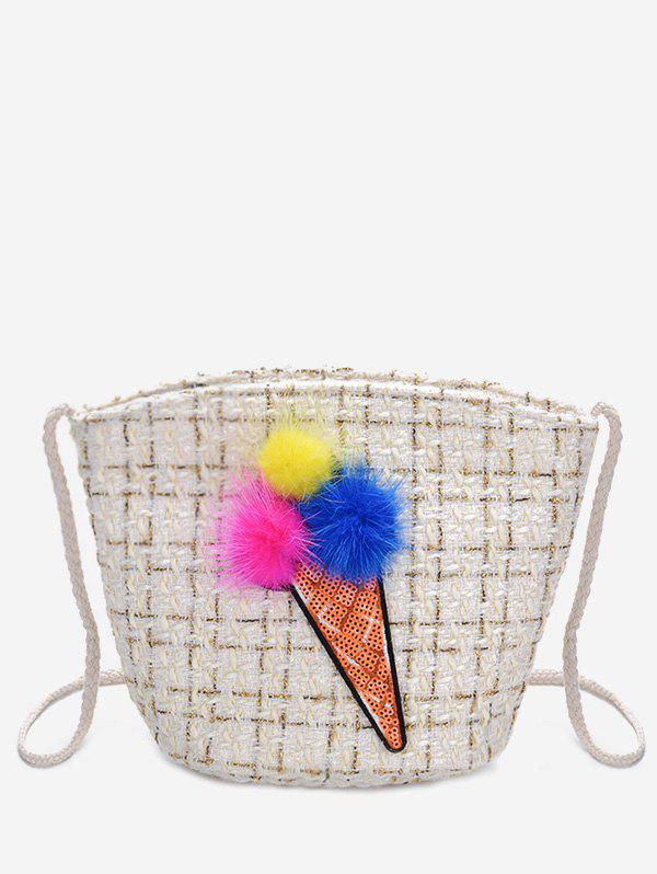 Outfit Ice Cream Pattern Crossbody Bag