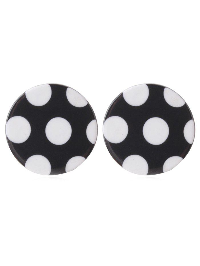 Hot Stylish Polka Dot Pattern Rounded Earrings