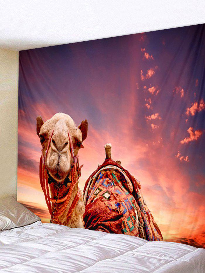 New Wall Hanging Art Sunset Camel Print Tapestry