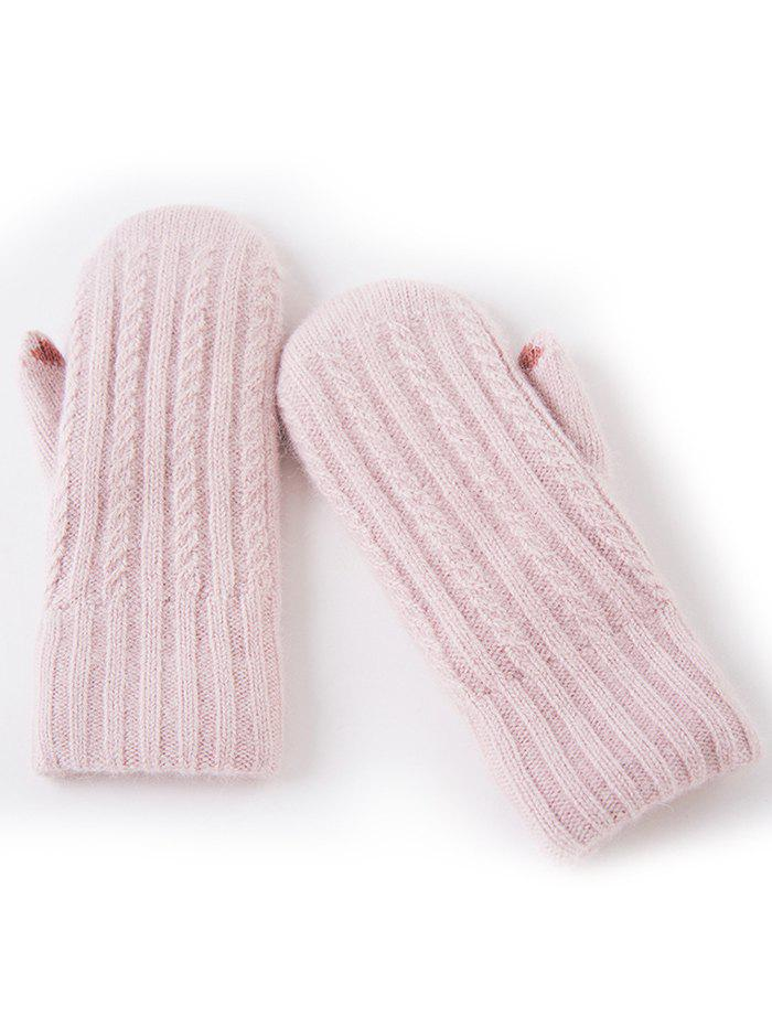 Outfits Winter Striped Knitted Mitt Gloves