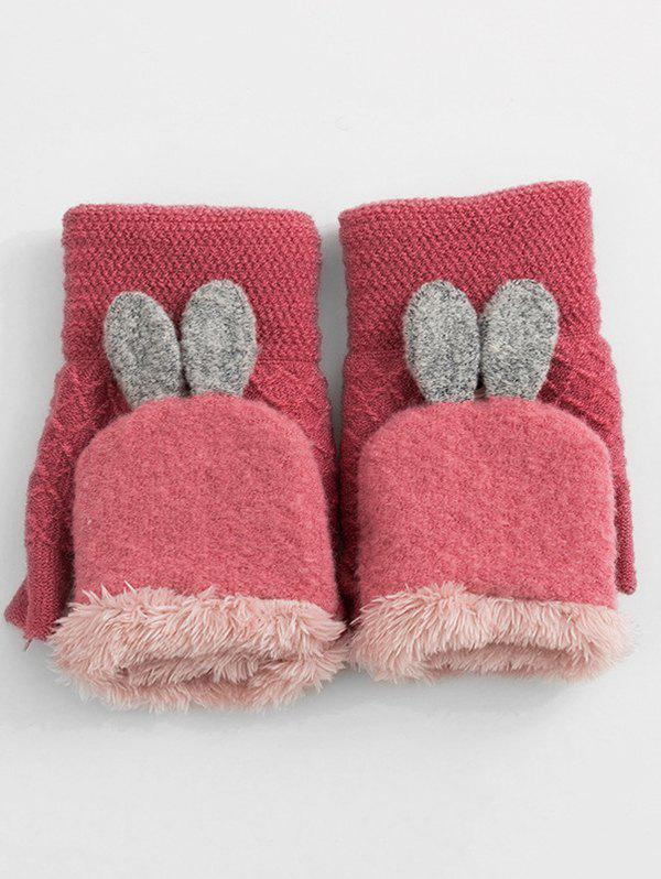 Outfit Winter Rabbit Ears Knitted Gloves