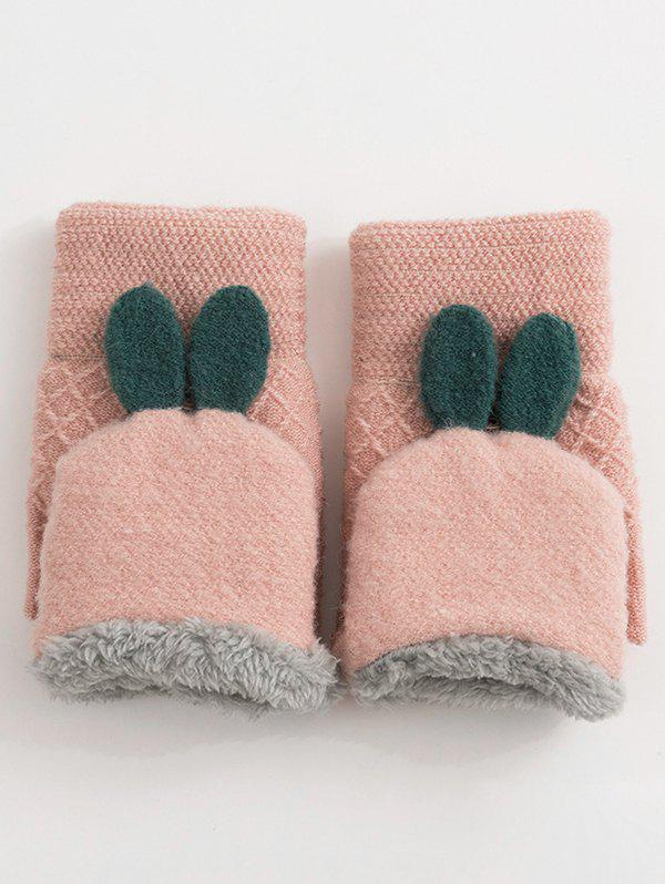 Unique Winter Rabbit Ears Knitted Gloves