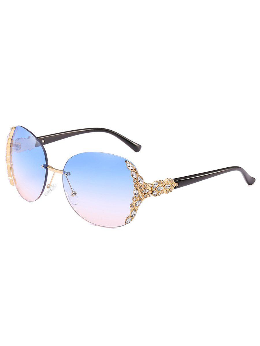 Vintage Rhinestone Inlaid Rimless Sunglasses