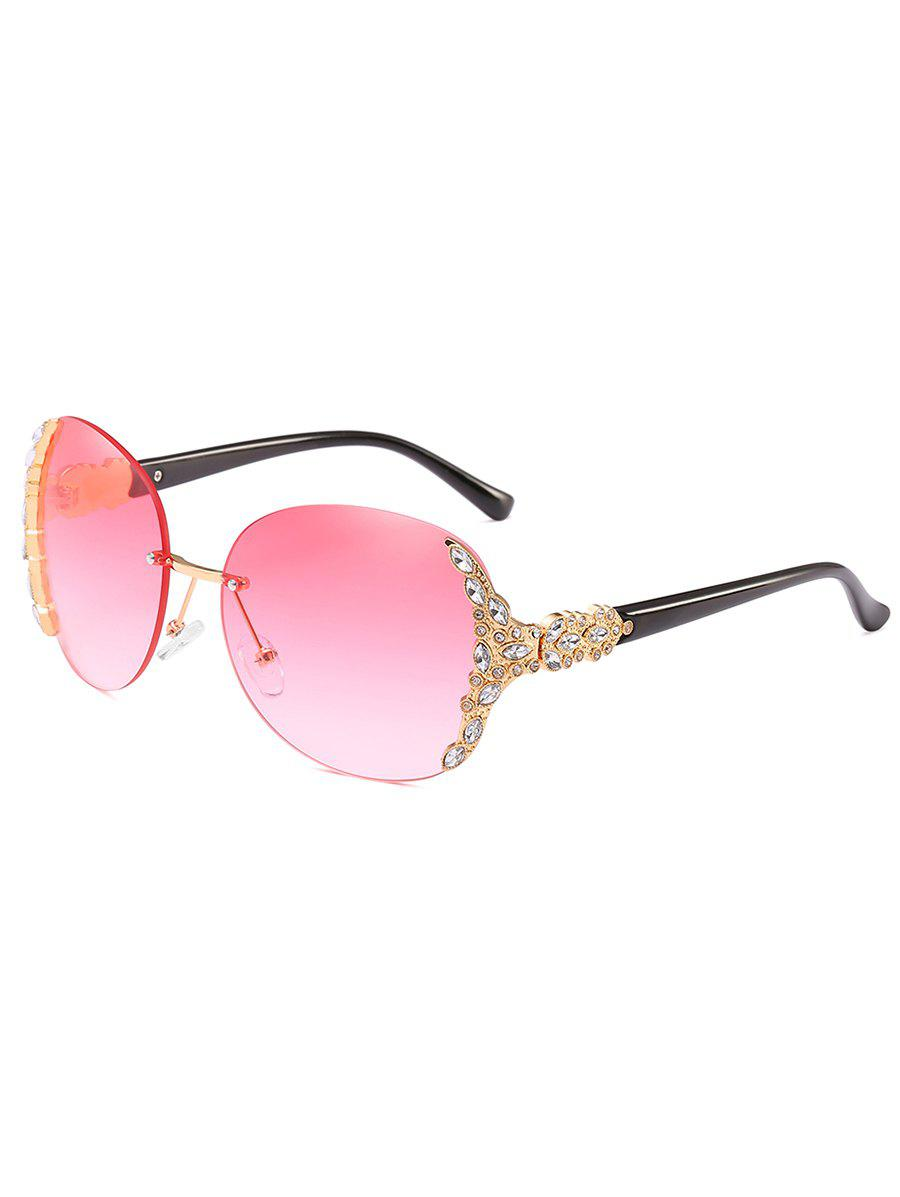 Fancy Vintage Rhinestone Inlaid Rimless Sunglasses