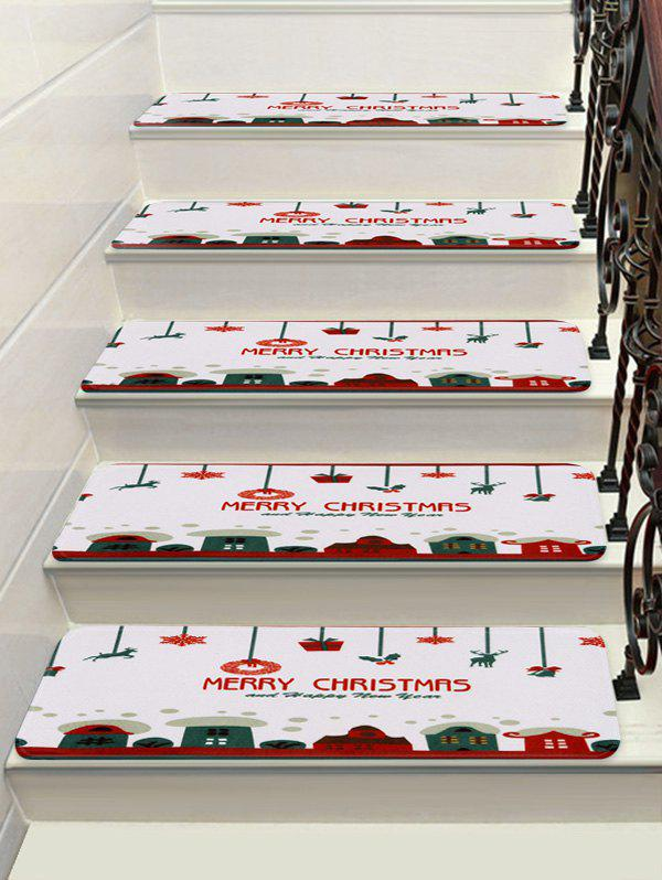 Merry Christmas Deer Deer Flocon Stairs Floor Rugs