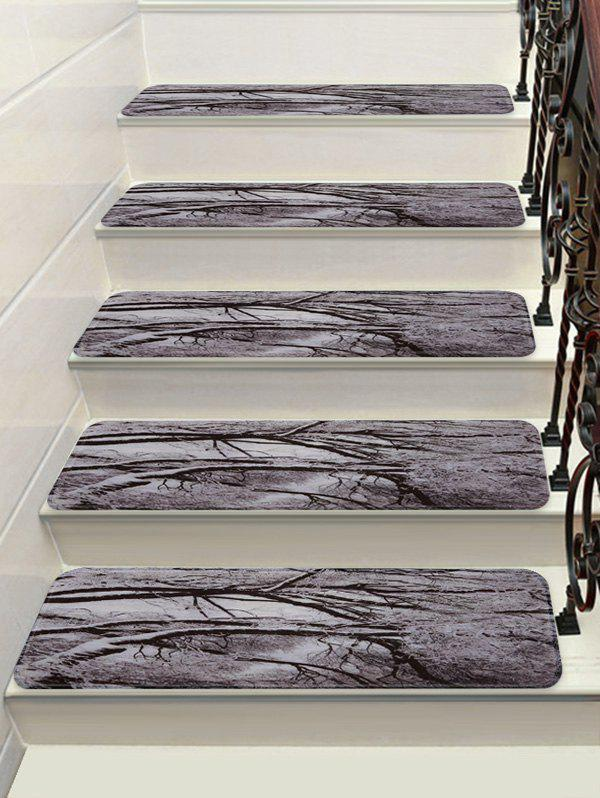 Shop Christmas Snow Tree Printed Stair Floor Rugs