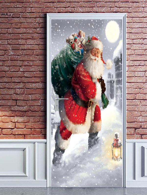 63% OFF Christmas Santa Claus Gift Print Door Cover ...