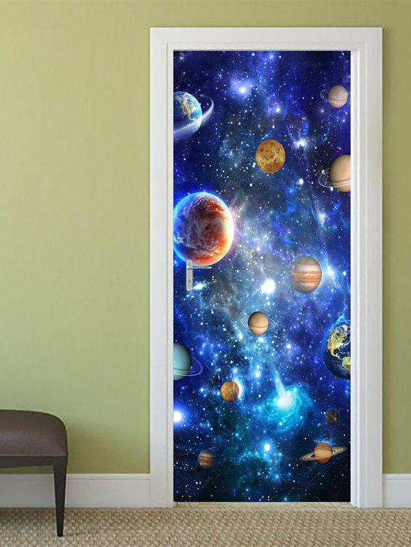 Shop Universe Planets Print Door Cover Stickers