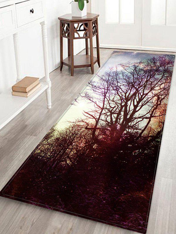 Tapis de bain décoratif en flanelle décorative Starry Sky Tree