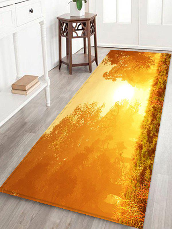 Fancy Sunshine Printed Non-slip Decorative Flannel Bath Mat