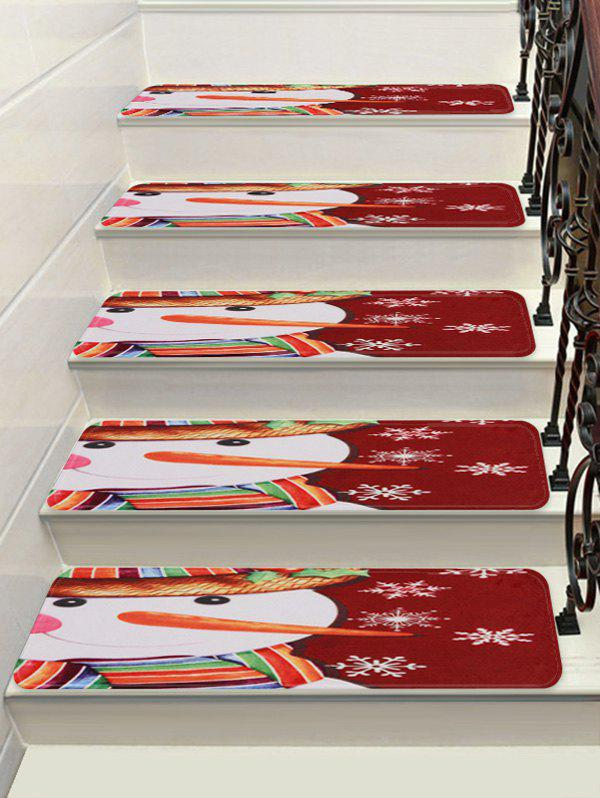 Latest Christmas Snowman Snowflake Printed Stair Floor Rugs