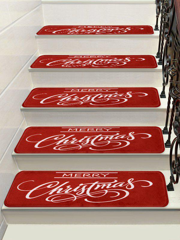 Hot Merry Christmas Printed Stair Decor Floor Rugs