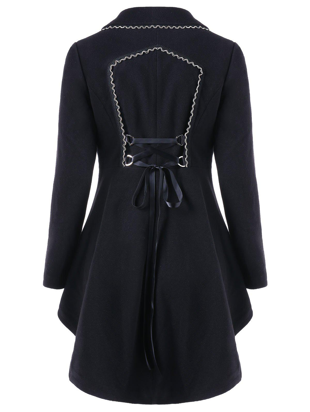Sale High Low Longline Coat with Lace Up
