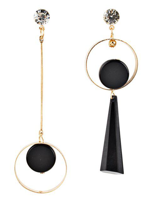 Hot Vintage Hollow Out Rounded Asymmetric Earrings