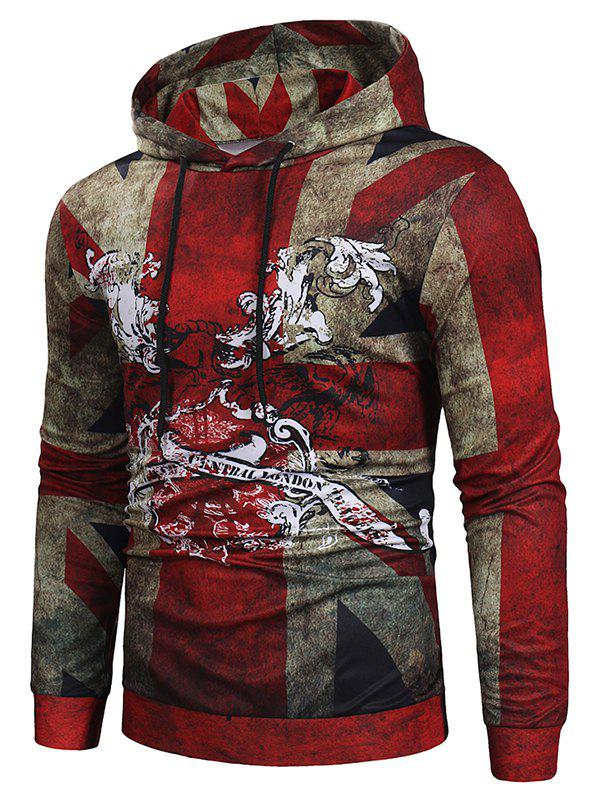 Buy Retro Printed Casual Simple Hoodie