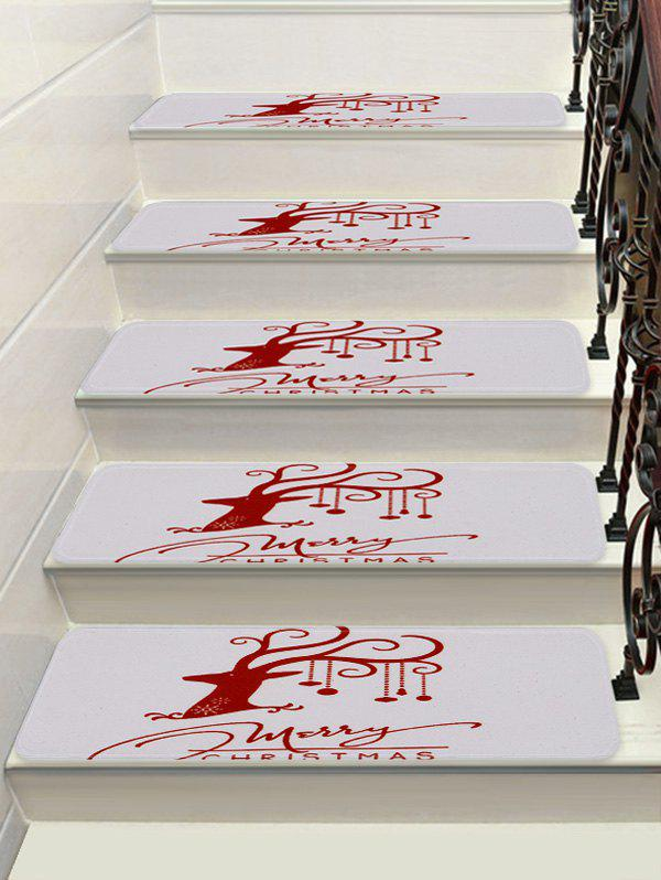 Shop Merry Christmas Elk Printed Stair Floor Rugs