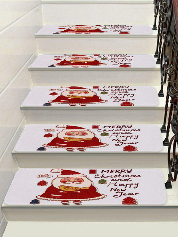 New Cartoon Father Christmas Printed Stair Floor Rugs