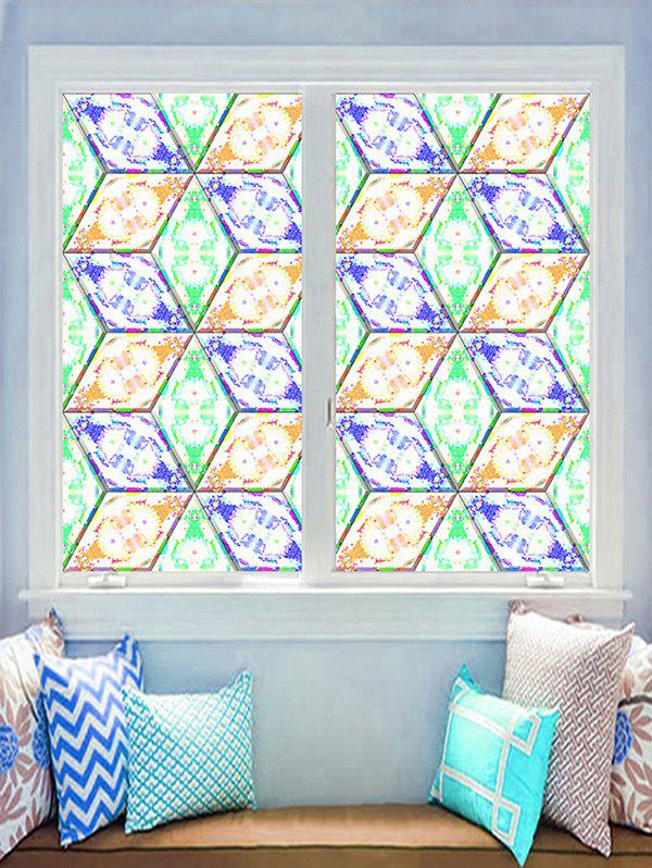 Chic Geometric Print Decorative Glass Stickers
