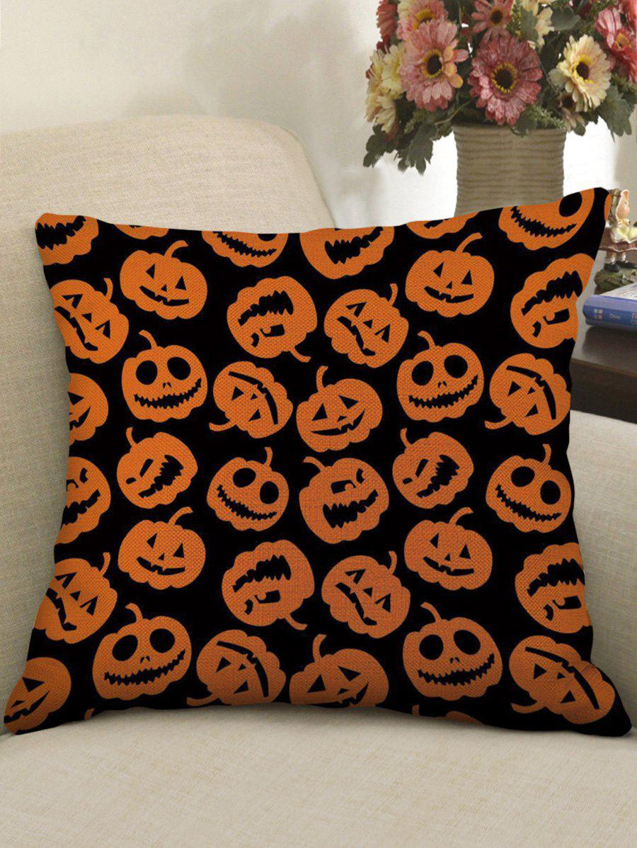 Unique Halloween Pumpkins Pattern Decorative Sofa Linen Pillowcase