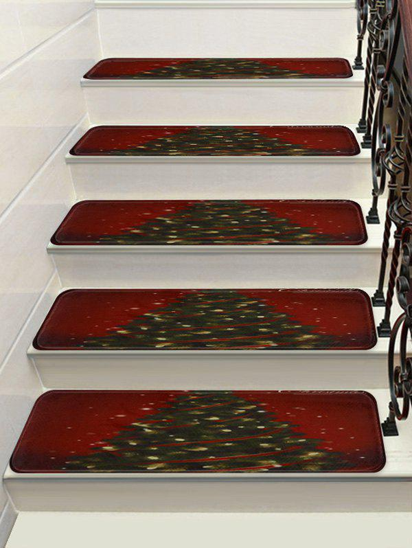Trendy Christmas Tree Printed Stair Floor Rugs