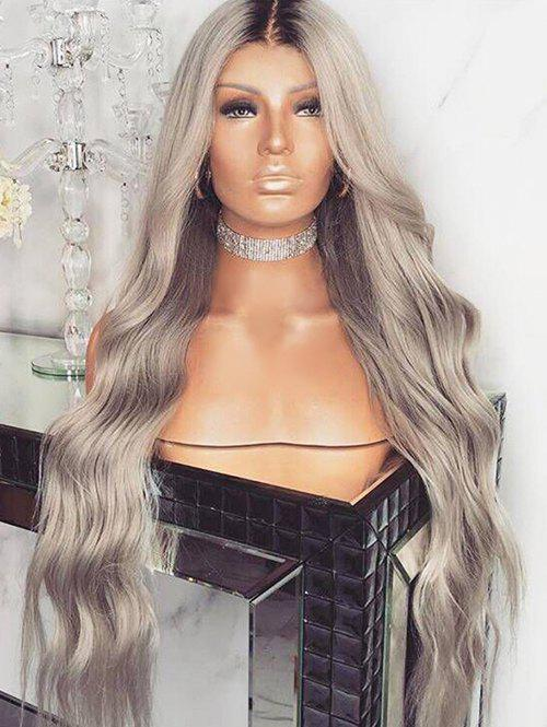 Outfits Long Middle Part Gradient Wavy Synthetic Wig