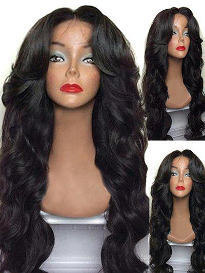Trendy Long Center Parting Body Wave Synthetic Wig