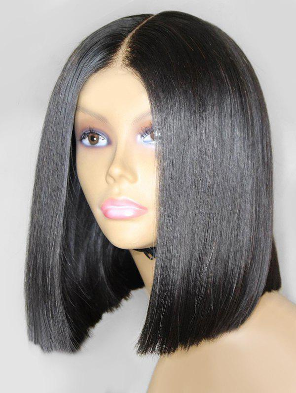 Chic Medium Center Parting Straight Bob Synthetic Wig