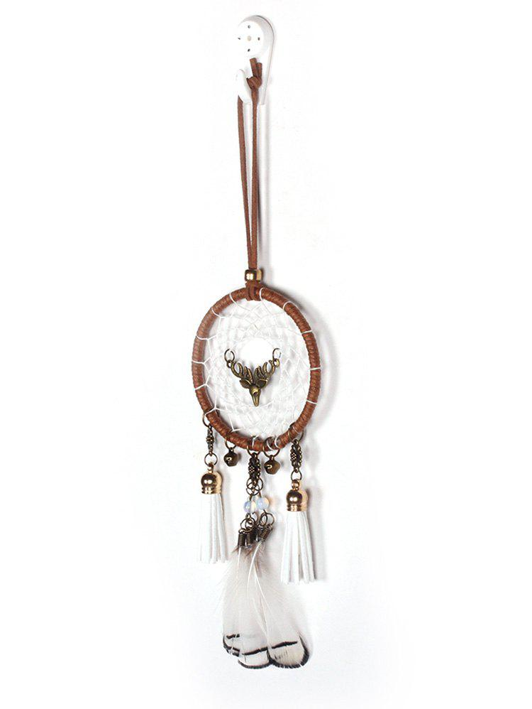 Chic Feathers Tasseled Handmade Dream Catcher Wall Hanging