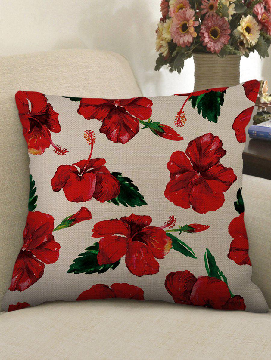 Outfit Flowers Pattern Decorative Sofa Linen Pillowcase