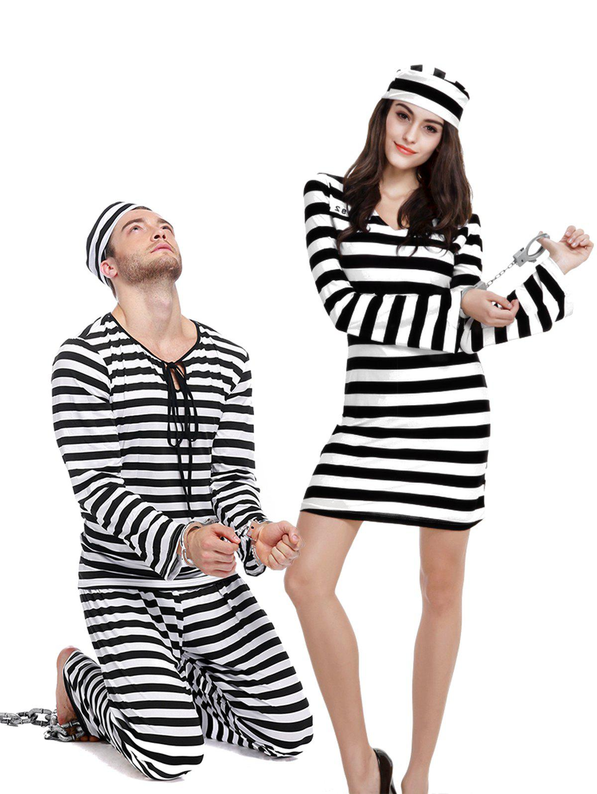 New Halloween Prison Uniform Couples Set