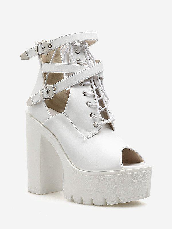 Buy Buckle Strap High Heel Platform Sandals