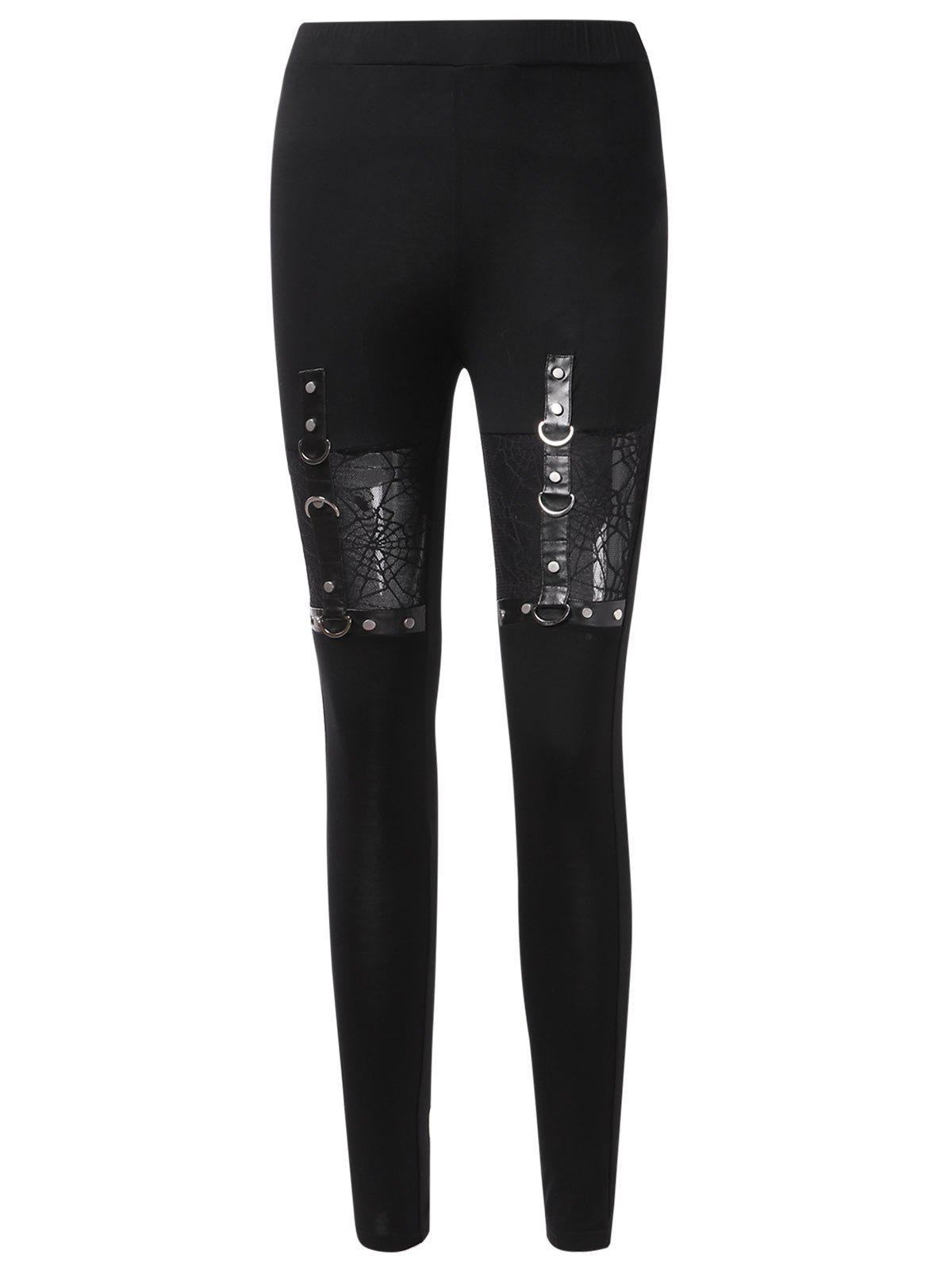 Outfit Halloween Spider Web Insert Leggings